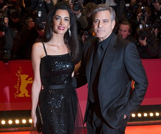 Amal stuns in showstopping dress