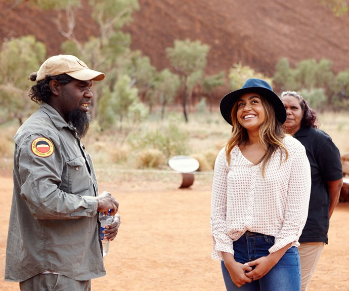 Behind the scenes with Jessica Mauboy in Uluru