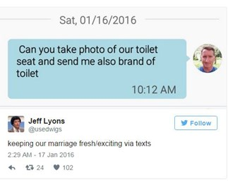 Tweets that will make sense to married people