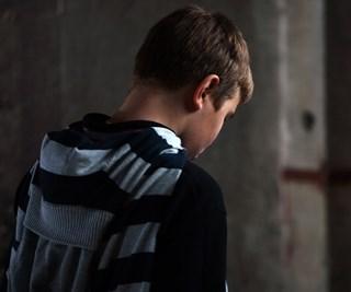 sad teen boy
