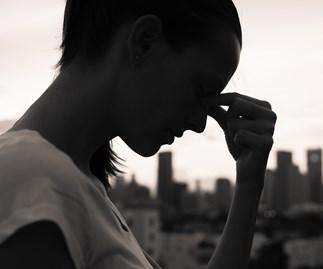 sad woman thinking