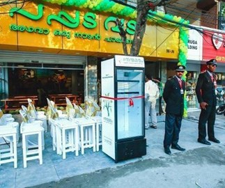 Restaurant installs outdoor fridge so homeless people can eat leftovers