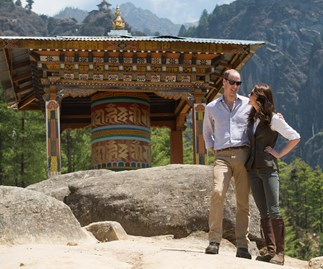 William and Kate share secret PDA