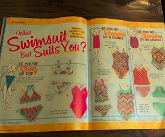 Mag offers 'figure flattering' swimsuit advice to young girls