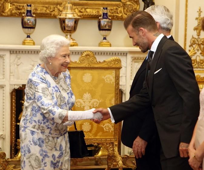 What Harper Beckham said when dad David met the Queen
