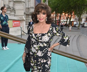Joan Collins living it up at 83