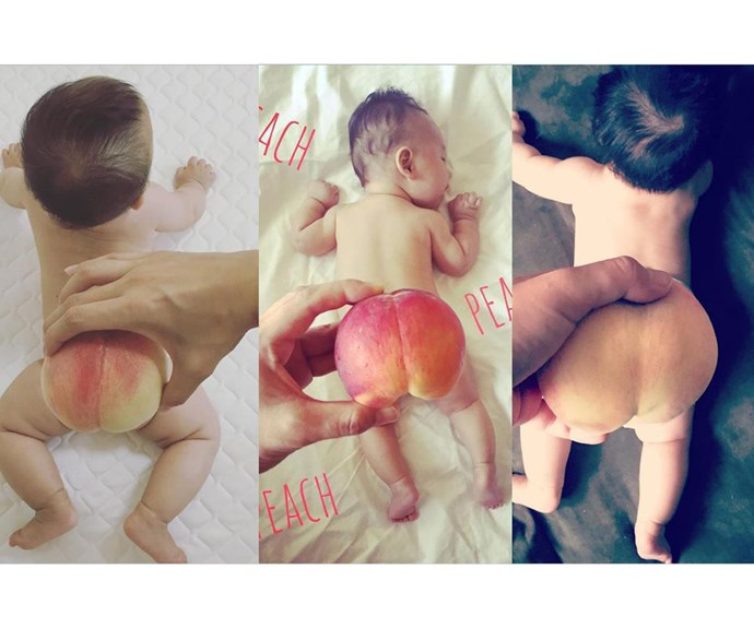 Adorable babies are getting even cuter with tiny, peachy tushes