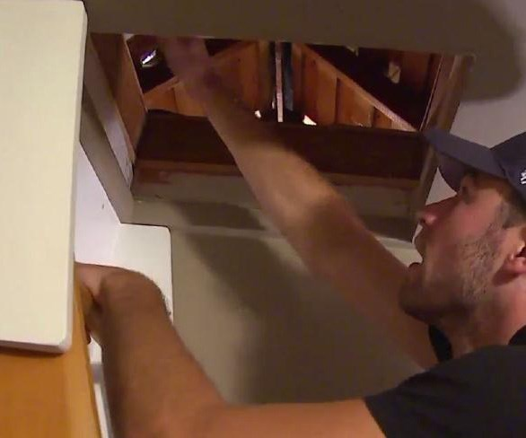 Man's chilling discovery in attic