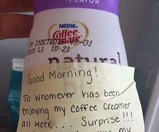 Hilarious office revenge for stealing 'cream'