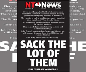 NT News' powerful front cover