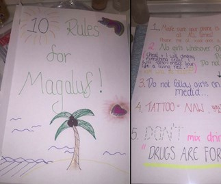 Man reveals girlfriend's 10 rules for his Spanish holiday without her