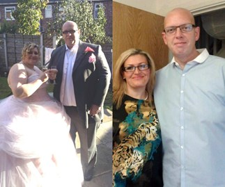 Couple lose 250kg after being told they're 'too fat for kids'