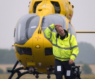 Prince William talks of the 'sad, dark moments' he faces as an air ambulance pilot