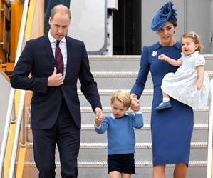 Prince George steals the show as the royal family touch down in Canada