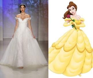 These Disney Princess-inspired wedding gowns are dreamy