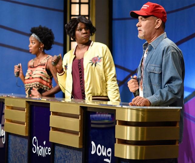 Tom Hanks mocks Donald Trump on Saturday Night Live