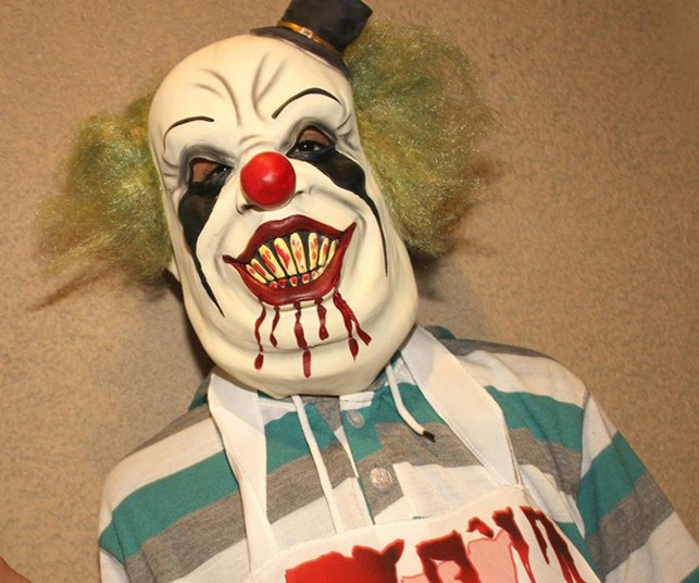 Teen stabbed for wearing clown mask