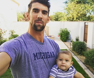 Michael Phelps shares adorable video of baby Boomer learning to swim