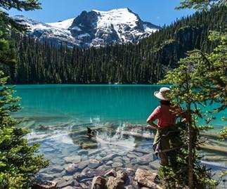 A woman exploring British Columbia, Canada.