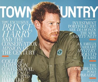 Prince Harry graces the cover of Town & Country and opens up about his work in Africa