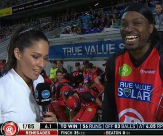 Chris Gayle's controversial message to Australia a year after the 'Don't Blush Baby' scandal