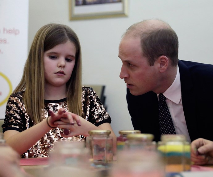 Prince William's heartbreakingly honest words to a young girl who lost her father