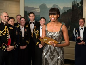 Michelle Obama presents at the Oscars