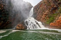 Turtle Falls is included within the new Kimberley Marine Park, WA. (Credit: Annabelle Sandes)