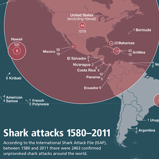 Shark attacks worldwide
