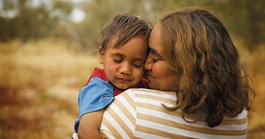 Hannifer and her son Jordan were photographed in the Pilbara by Ken Duncan's assistant, Luke Peterson.