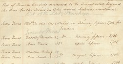 "Original arrival document: ""List of Female Convicts sentenced to be Transported beyond the Seas..."" (Credit: NSW State Records)"