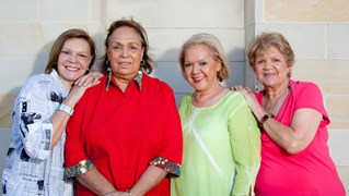 From left to right: Lois Peeler, Naomi Mayers, Laurel Robinson and Beverley Briggs. (Credit: Hopscotch Films)