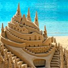 The key to mighty sandcastles? 99% sand and 1% water, say scientists. (Credit: Getty)