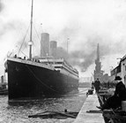 The RMS <em>Titanic</em> at Southampton in 1912. (Credit: Wikimedia)