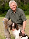 Dog trainer Steve Austin uses springer spaniels to hunt out rabbits and foxes and other feral pests. (Credit: Esther Beaton)