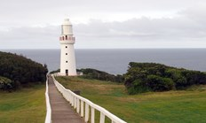 The Cape Otway lighthouse was the first sight of Australia that many Europeans saw. (Credit: Carolyn Barry)
