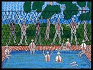 <em>Barred from the baths</em> by Robert Campbell Jnr. is part of an exhibition on Aboriginal activism. (c) Michael Myers 2011