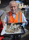 Archaeologist  David Bannear worked for more than three hours to uncover the time capsule. (Credit: Sovereign Hill)