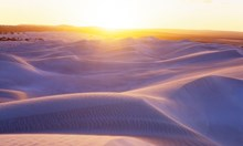 Nullarbor sand dunes at sunset, near the Great Australian Bight (Credit: Ted Mead/Getty).