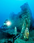 The SS Nord wreck.