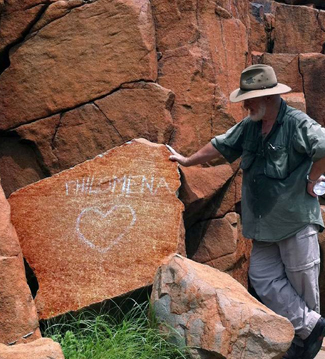 Aboriginal Rock Art Site Vandalised Australian Geographic