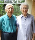 Joyce Belfield, 91, and husband George believe solid relationships and positive thinking are important in ageing. (J.Swallow)