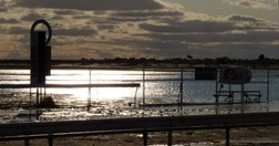 The Birdsville race track flooded by the recent rains. (Photo: Rhonda Heslin)