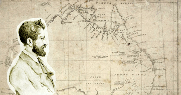 Missing Australian explorer Leichhardt and his map (Photo: National Library of Australia; State Library of new South Wales)