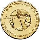 The commemorative Fred Hollows one dollar coin is being released this week. (Photo: Royal Australian Mint)