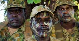 Privates Elijah Appurryarnk, Leonard Lamilami and Allen Gebadi from the Goulburn Islands. (Photo: David Hancock)
