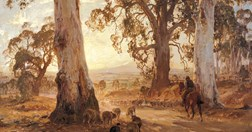 """Droving into the light"", by Hans Heysen, Art Gallery of Western Australia."