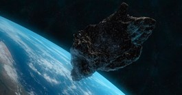 Artist's impression of an asteroid in front of Earth (Image: Getty Images)