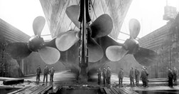 Propellors on <em>Titanic</em> (Photo: © Premier Exhibitions, Inc)