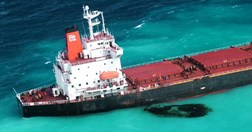 The carrier aground at Douglas Shoals (Photo: Maritime Safety Queensland)